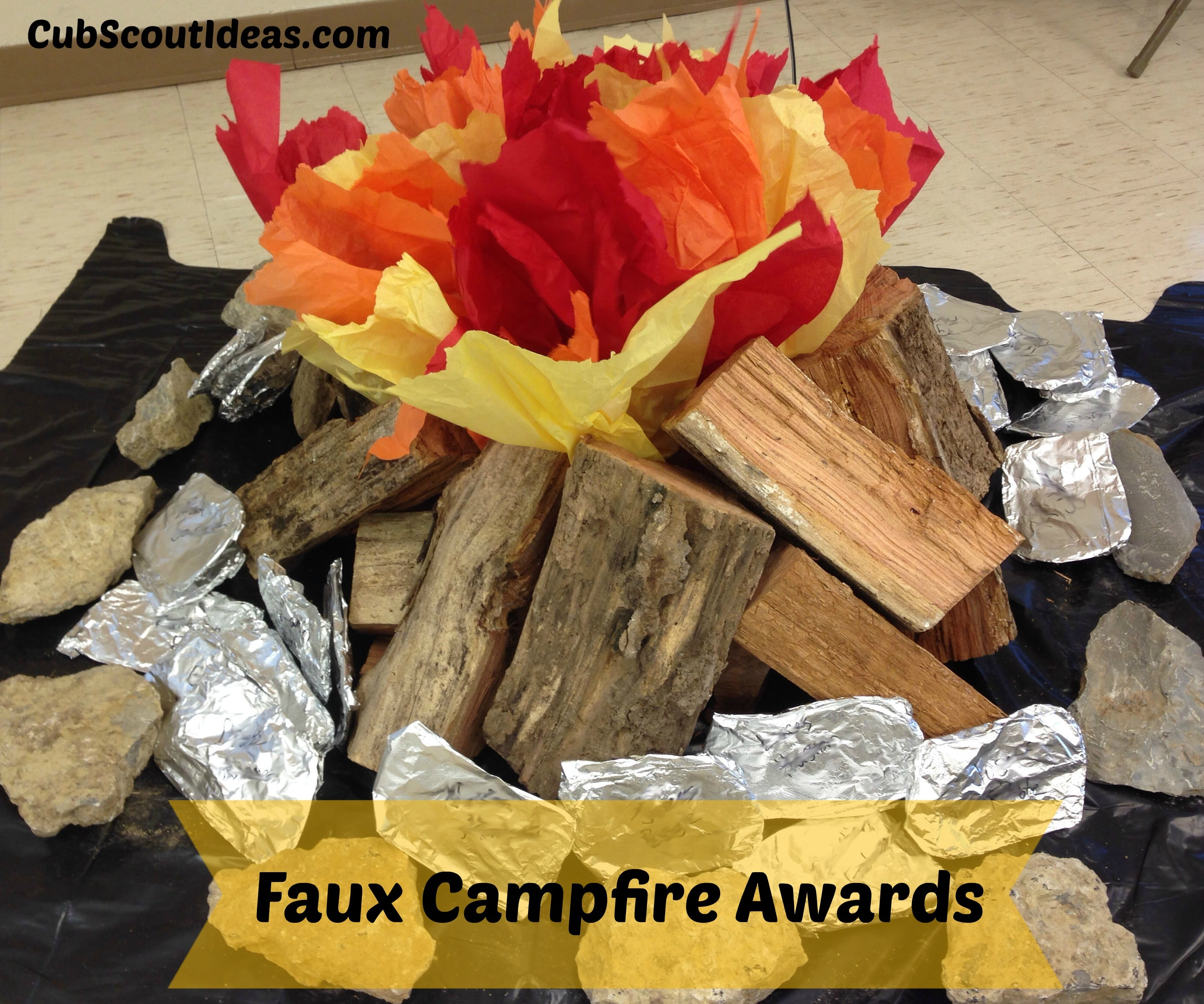 Faux Campfire Awards Ceremony