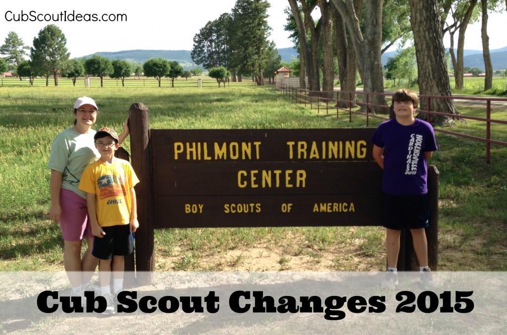 Cub Scout Changes 2015