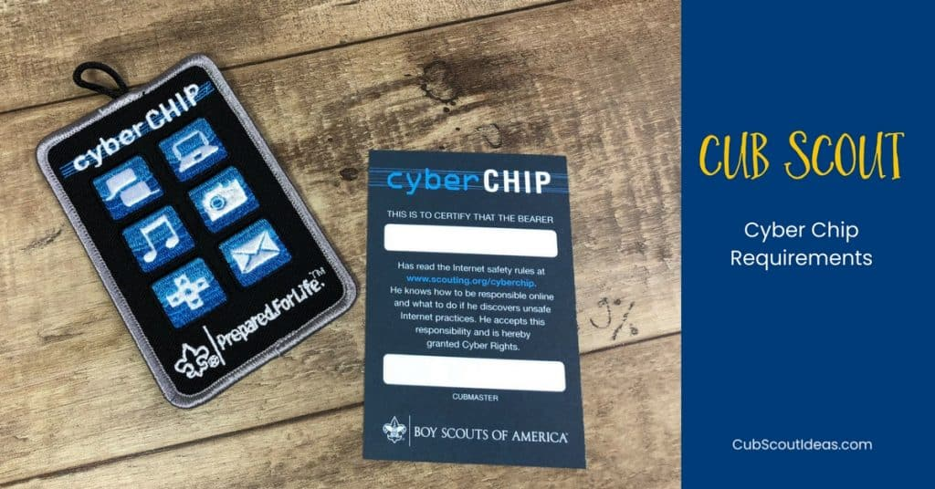 Cub Scout Cyber Chip Requirements f