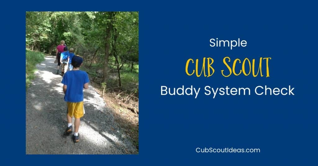 Cub Scout buddy system check