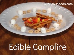 Learn Campfire Safety with a Craft:  Edible Campfire