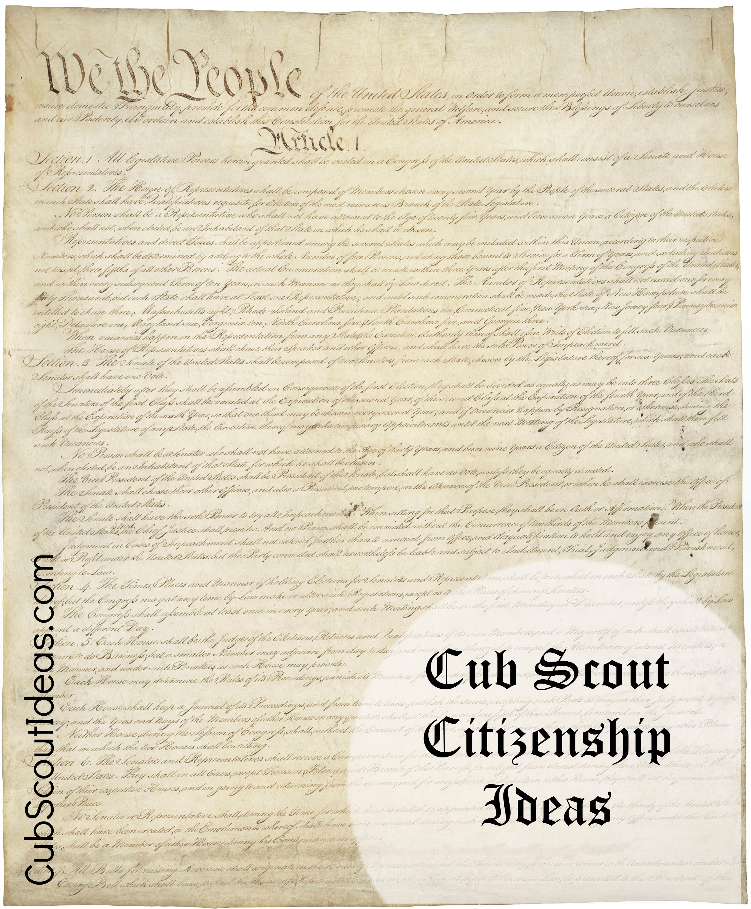 Cub Scout Citizen Rights and Responsibilities | Cub Scout Ideas