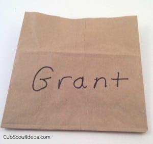 cut paper bag