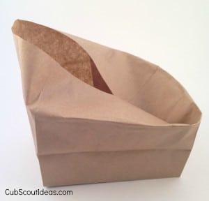 paper bag folded