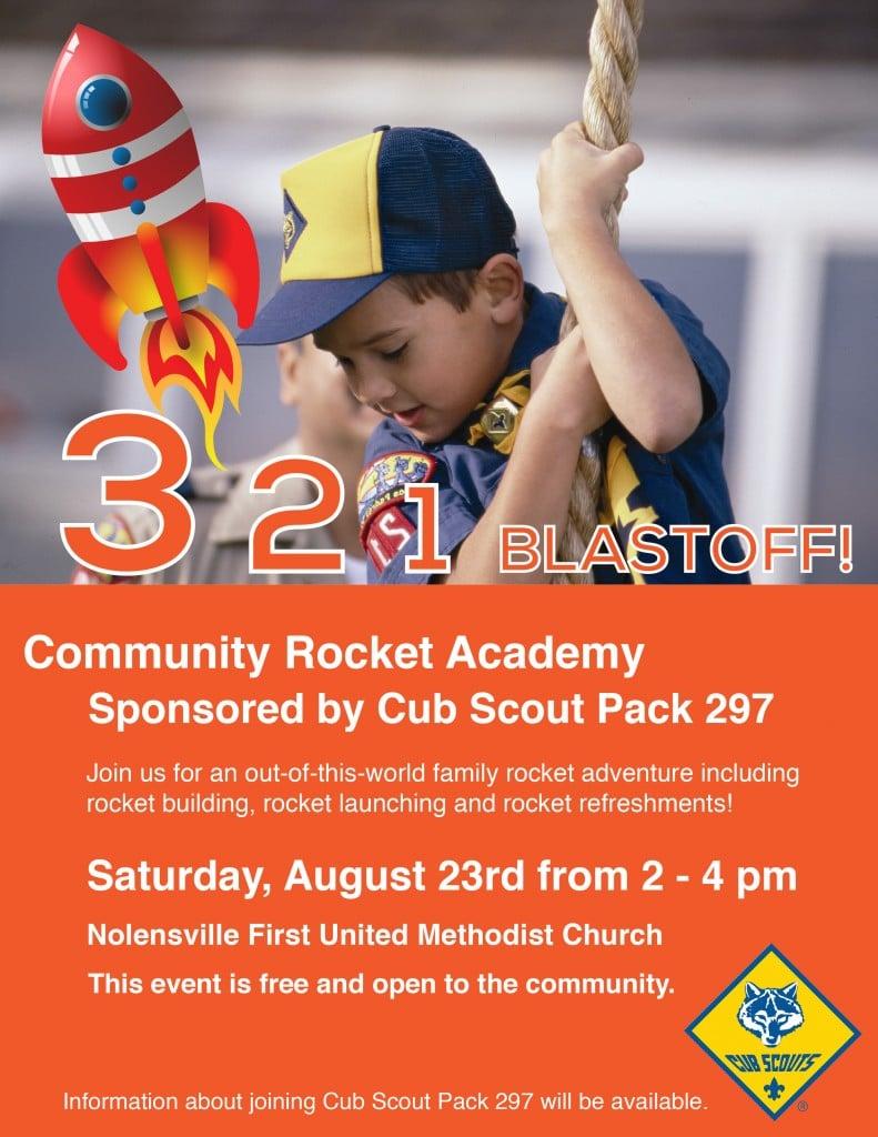 Cub Scout Rocket Academy Flyer