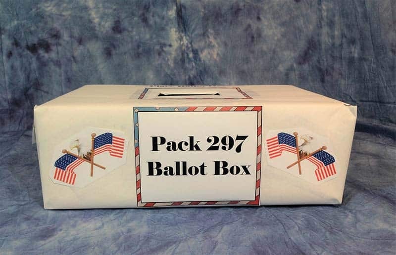 front view of ballot box