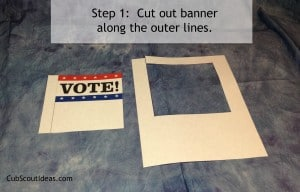 vote banner step 1
