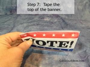 vote banner step 7