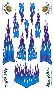 blue flames stickers