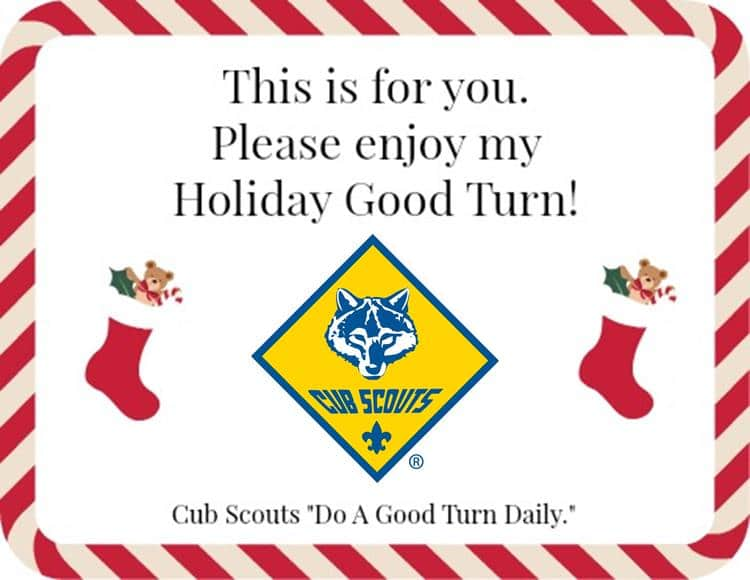 cub scout good turn holiday image