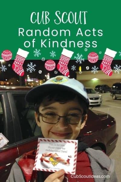 random acts of kindness for cub scouts to do