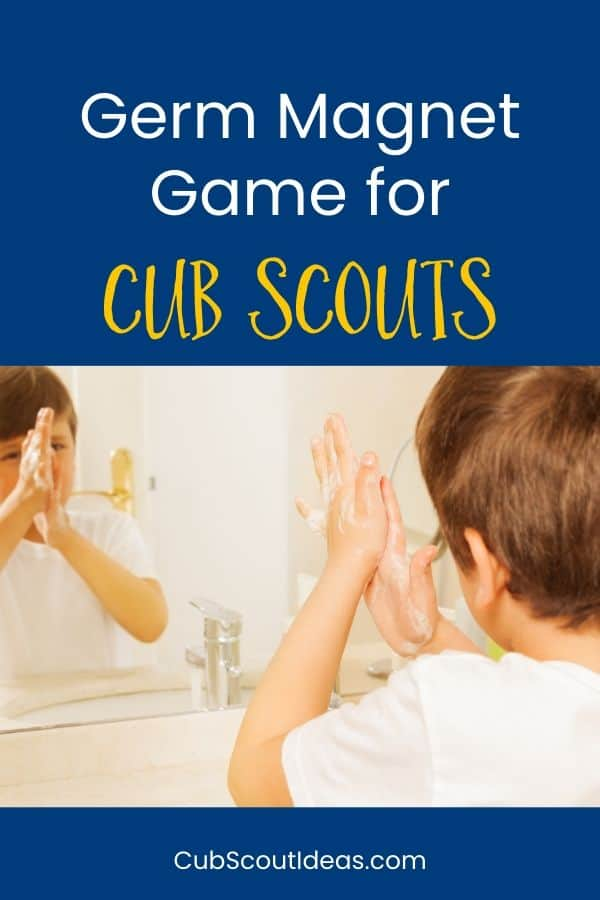 cub scout germ magnet game