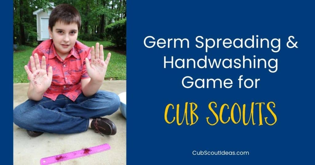 germ spreading game for cub scouts