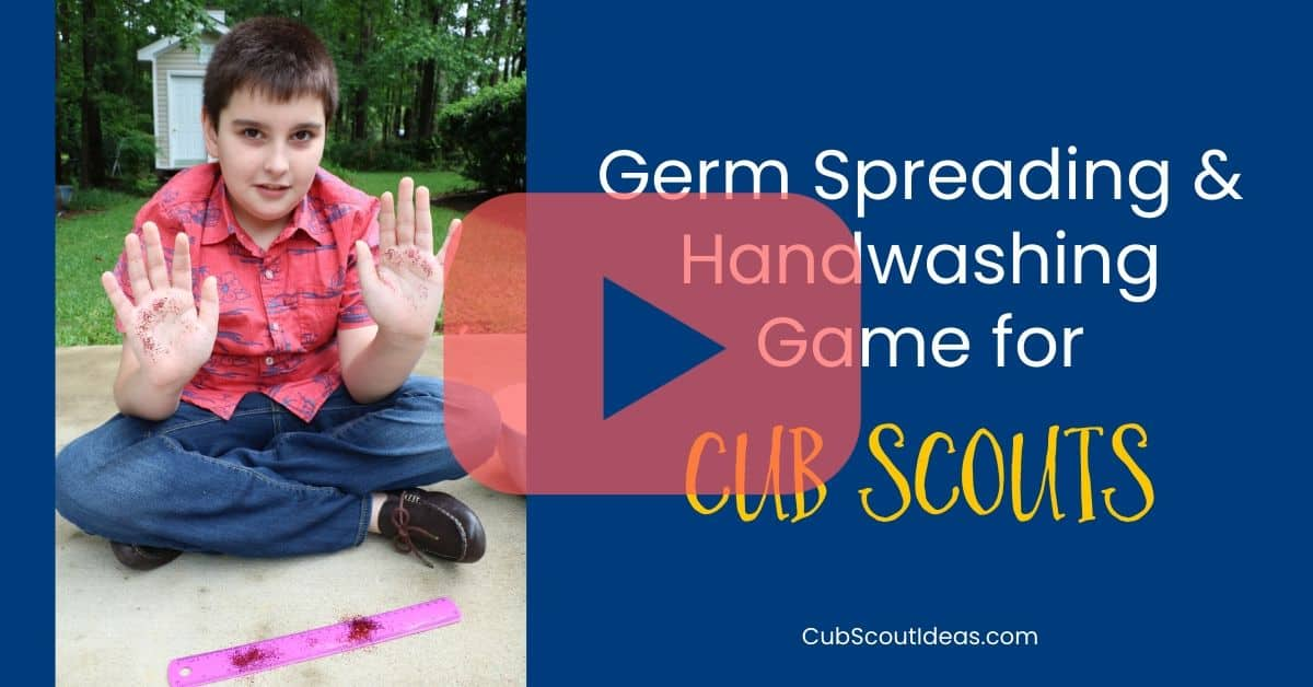 germ spreading game for cub scouts video