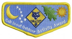 outdoor activity award patch
