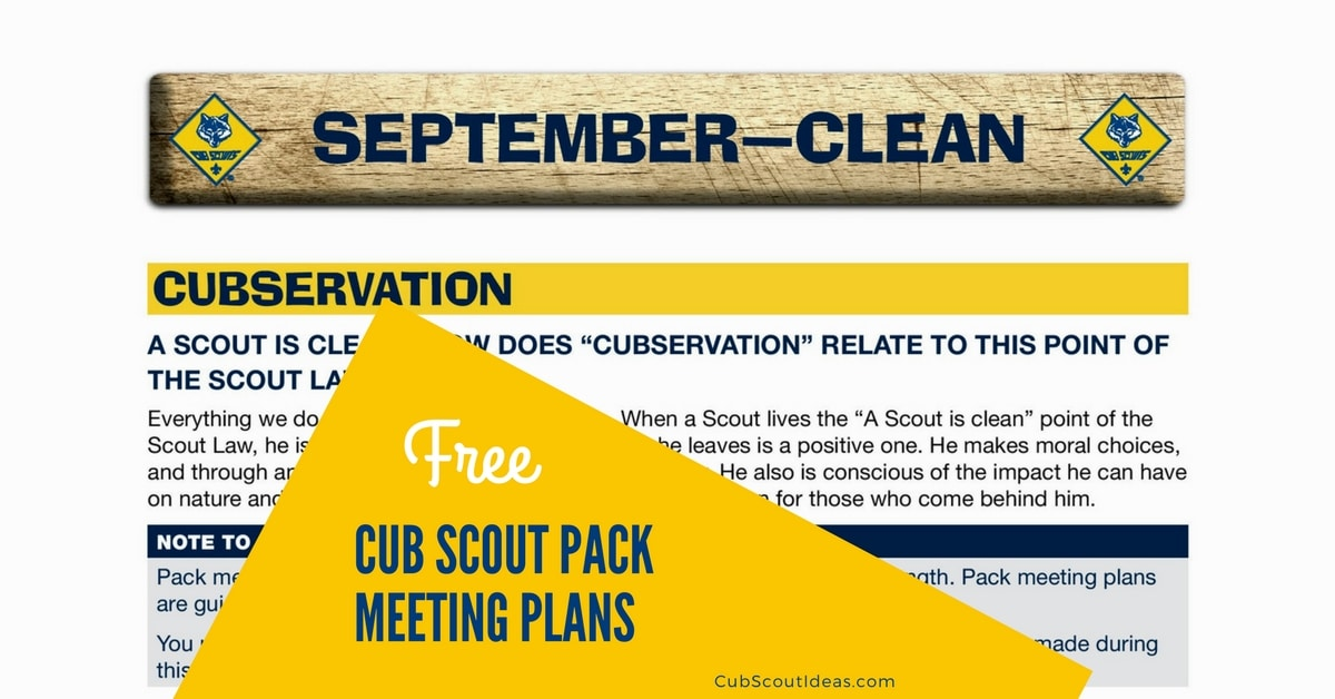 download your free cub scout pack meeting plans