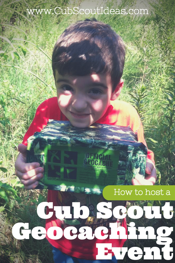 cub scout geocaching event