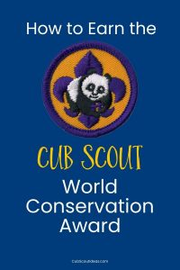 cub scout world conservation award