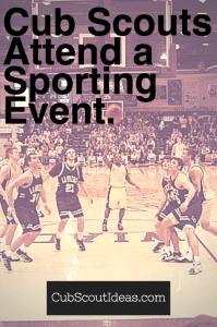 Cub Scouts Attend a Sporting Event