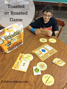 toasted or roasted camping card game