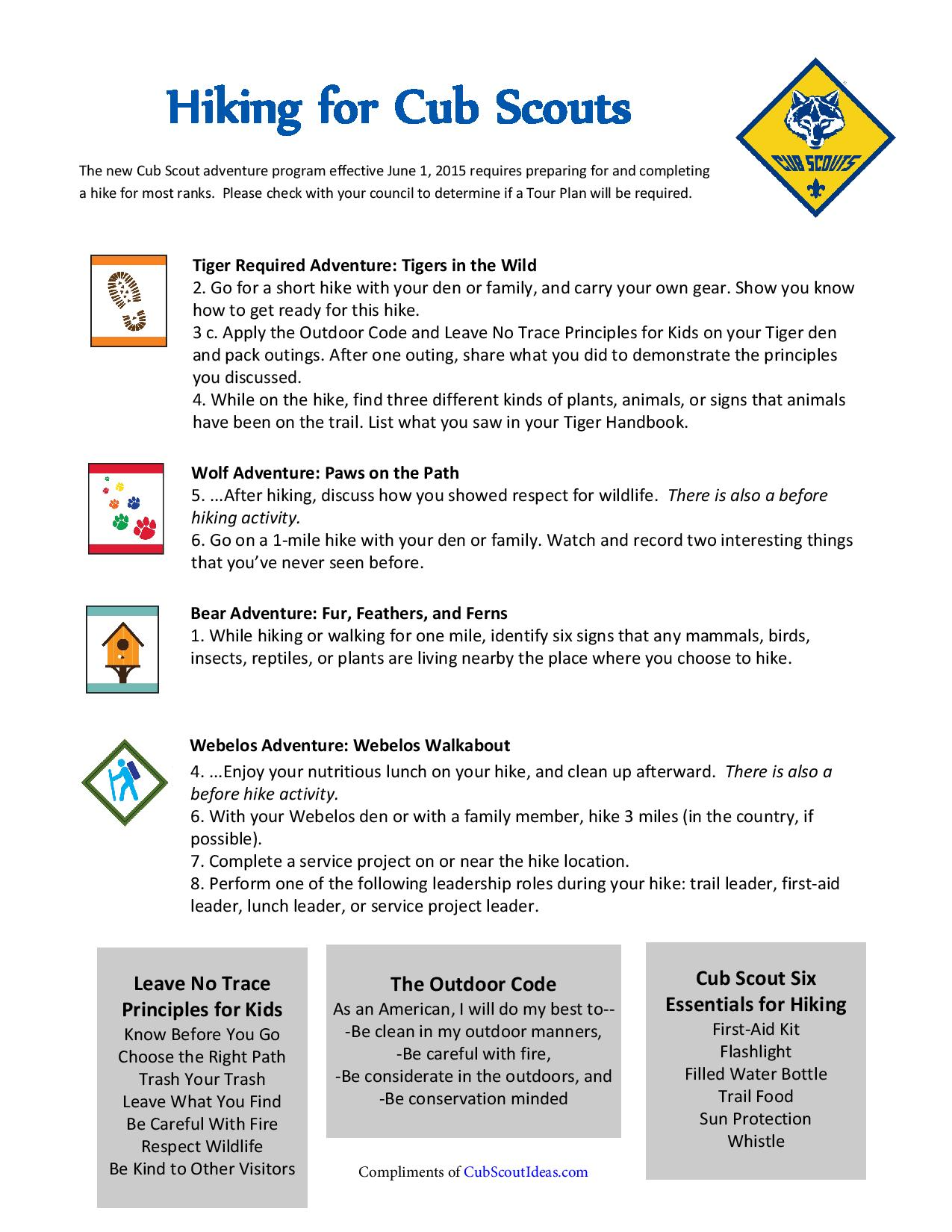 Hiking Activities for Cub Scouts