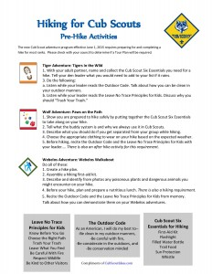 Cub Scout Hiking: What to do before you go