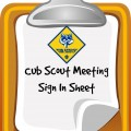 cub scout sign in sheet