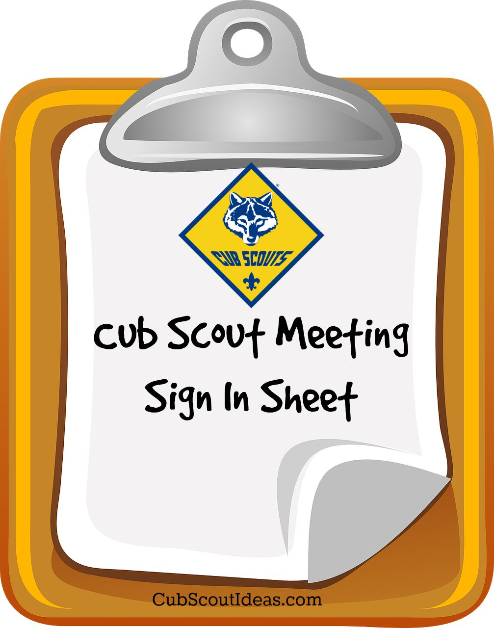 Attendance Sheet for Cub Scouts | Cub Scout Ideas - attendance sign in ...