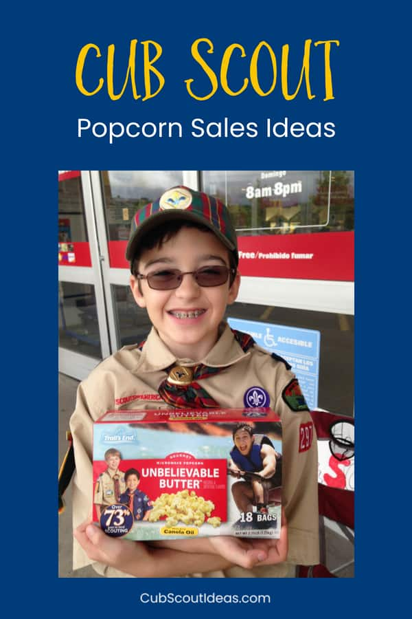 6 Cub Scout popcorn sales ideas