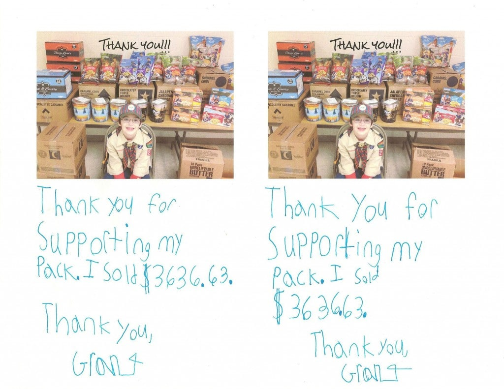 ... 2015 at 2177 × 1681 in Cub Scout Popcorn Thank You Notes . Next