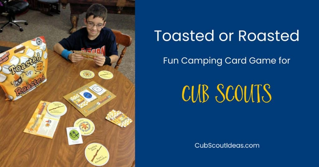 camping card game for Cub Scouts