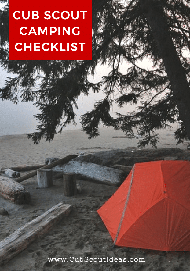 Cub Scout Camping Checklist | Cub Scout Ideas