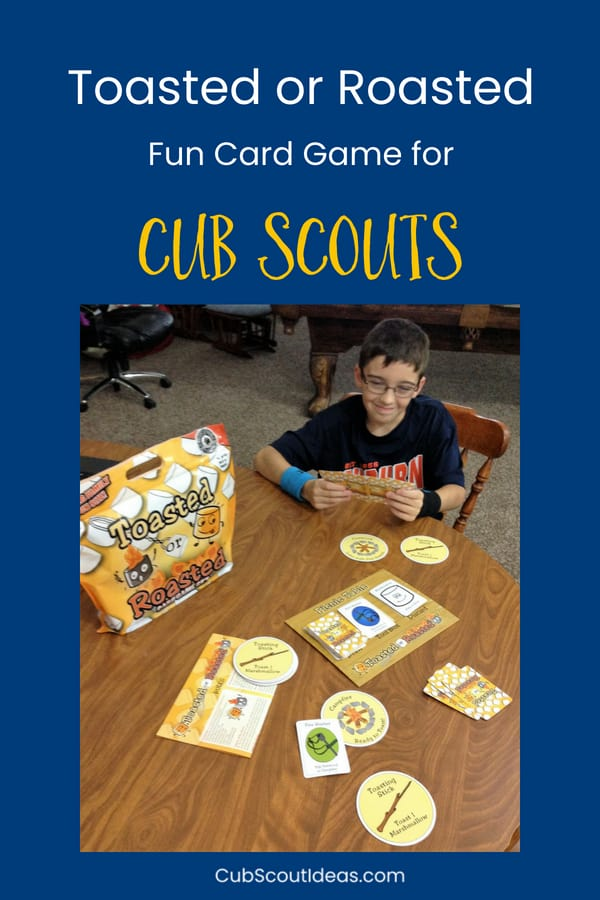 Toasted or Roasted is a fun camping card game for both kids and adults! #CubScouts #CubScout #Scouting #Webelos #ArrowOfLight #Camping #Campfire #Smores
