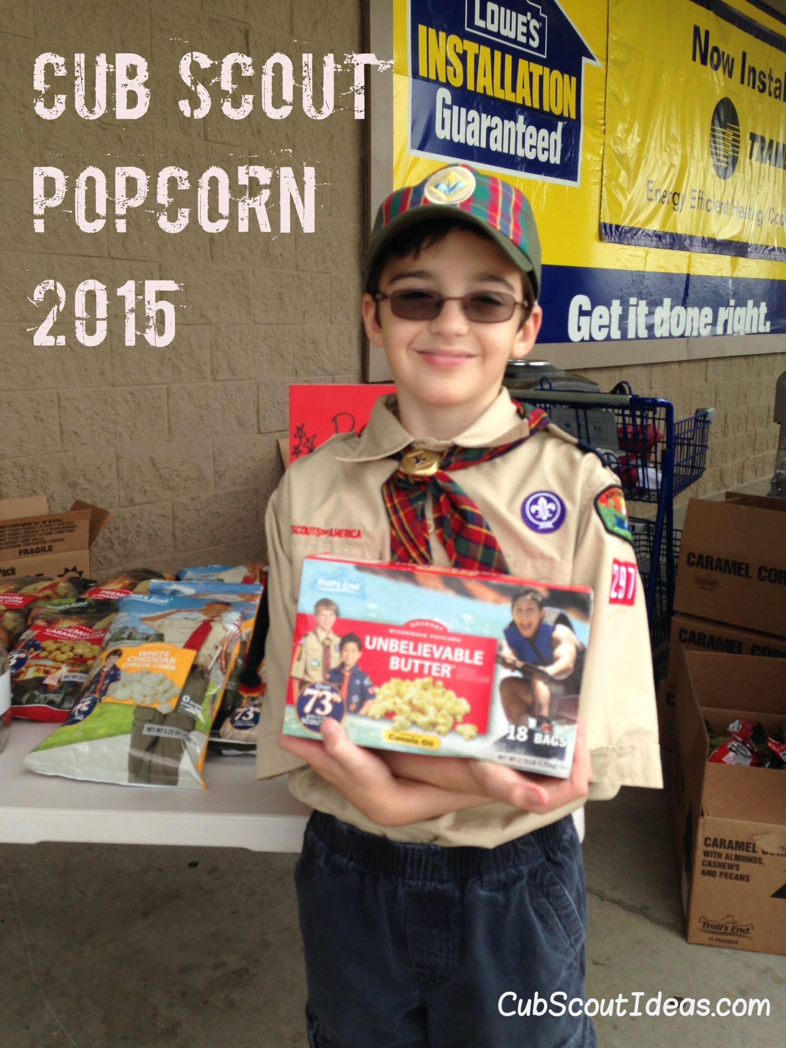 Cub Scout Popcorn Sale 2015