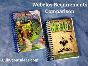 webelos requirements comparison