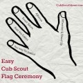 easy cub scout flag ceremony