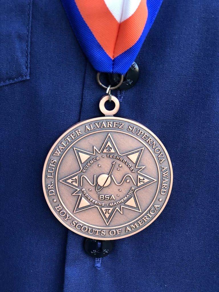 Cub Scout Supernova award medal