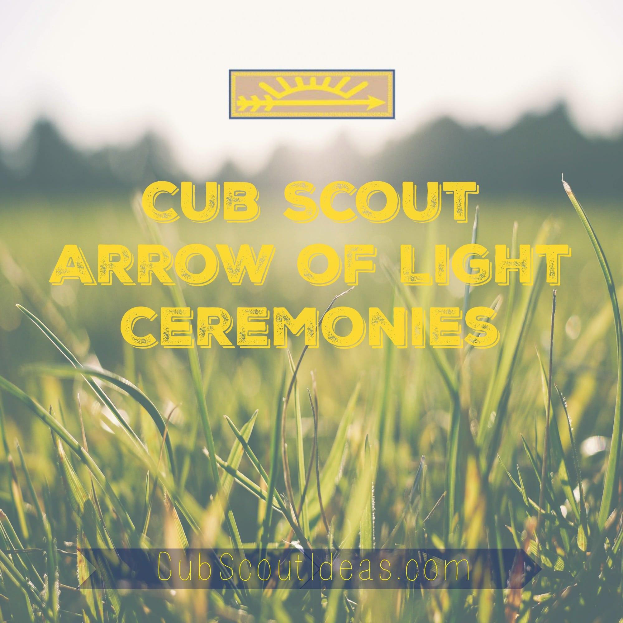 Boy scout uniform patches arrow of light