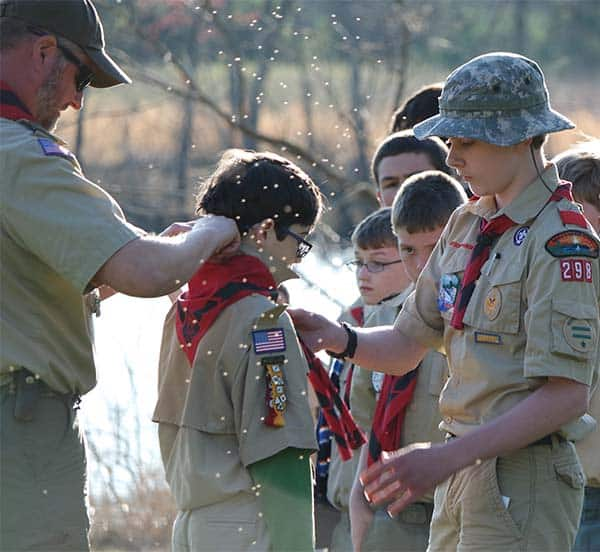 cub scout crossover ceremony with neckerchief