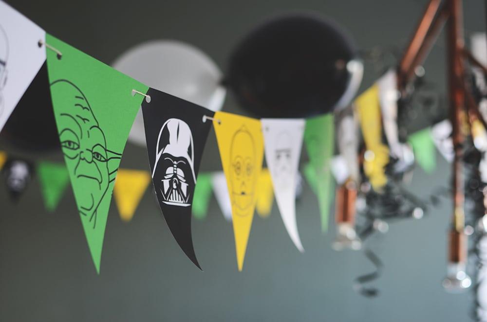 Star Wars character bunting