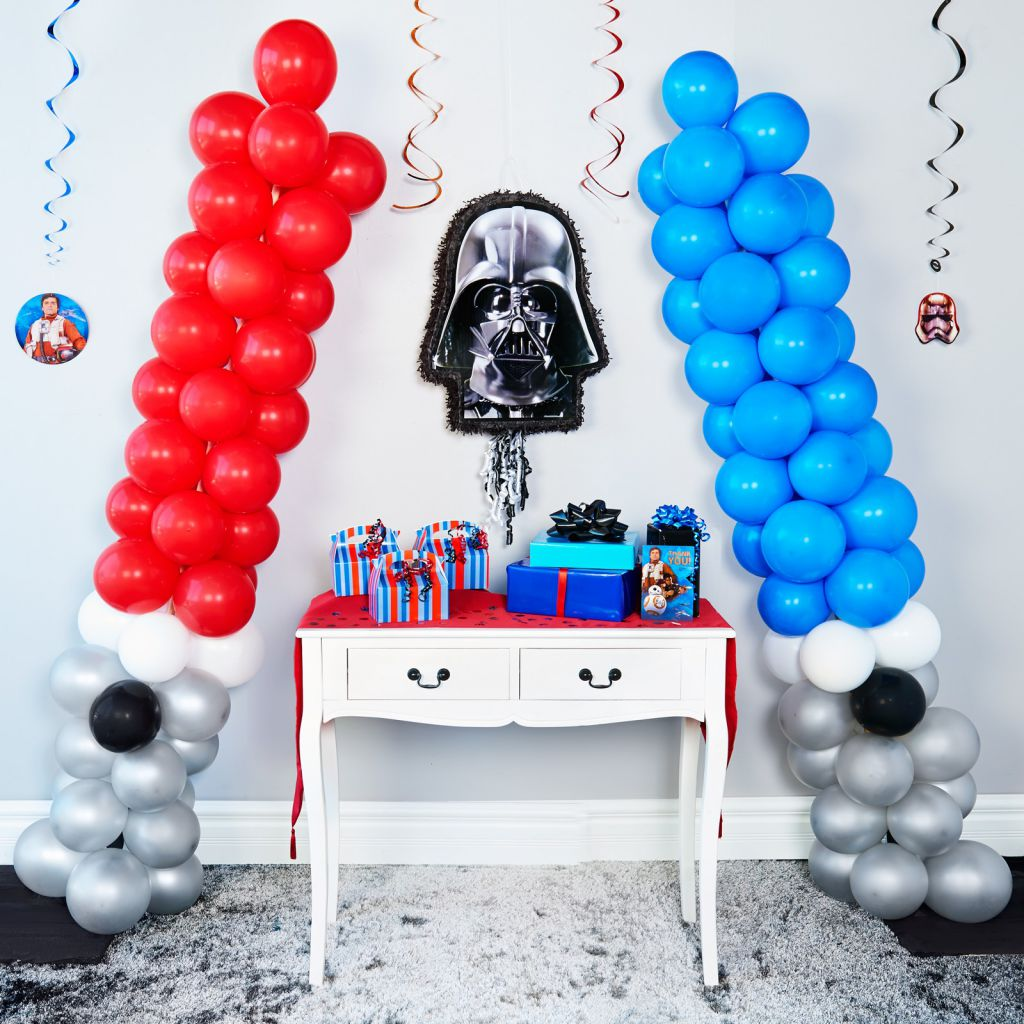 D i y star wars lightsaber balloons bx 101266b cub scout for 7 star balloon decoration