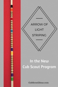 Cub Scout Arrow of Light Arrow Striping