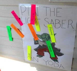 pin the tail on yoda