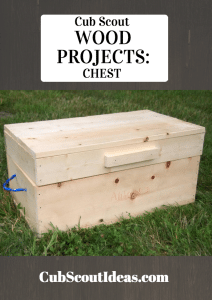 Cub Scout wood projects - chest