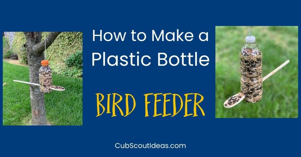 bird feeder made from plastic bottle