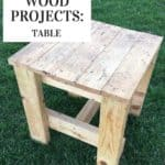 cub scout woodworking table