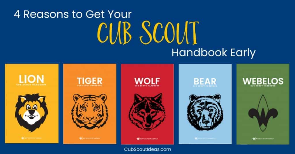 Get Cub Scout Handbooks Early