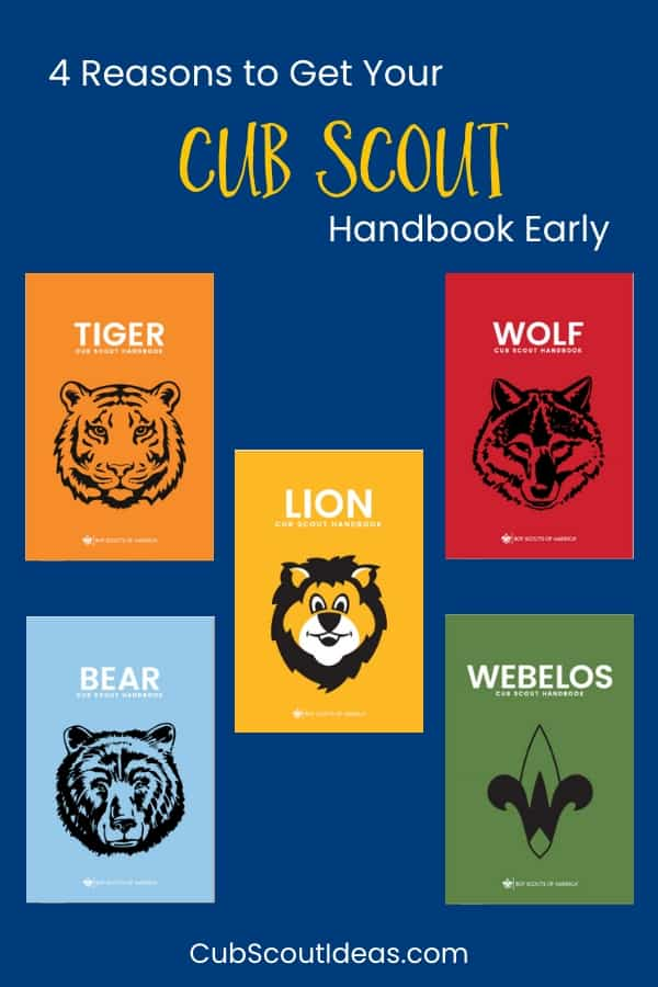 Get Cub Scout Handbooks in Summer