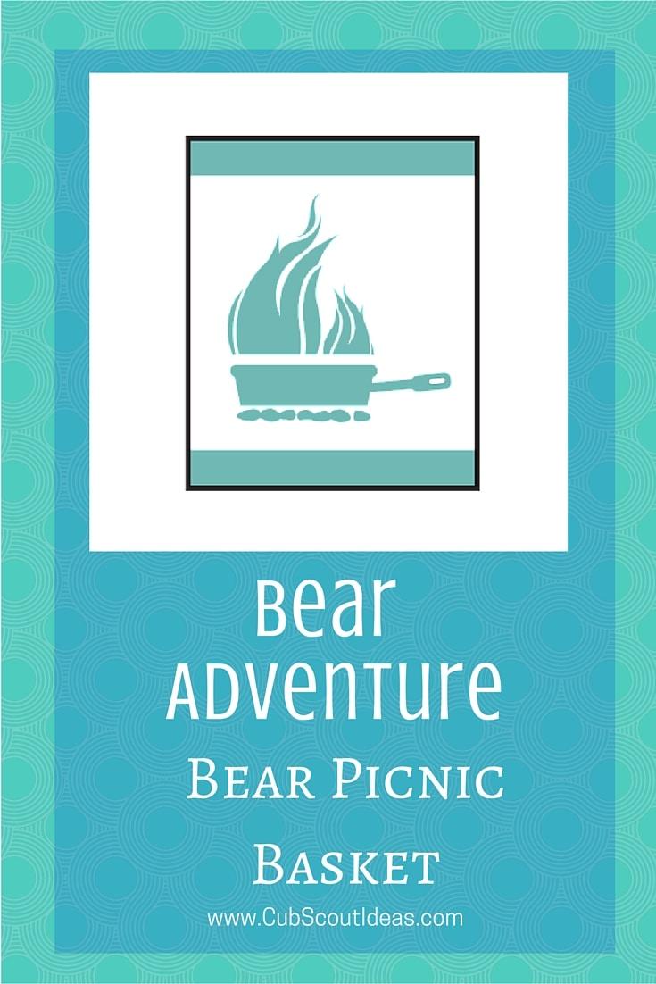 Bear Cub Scout Bear Picnic Basket