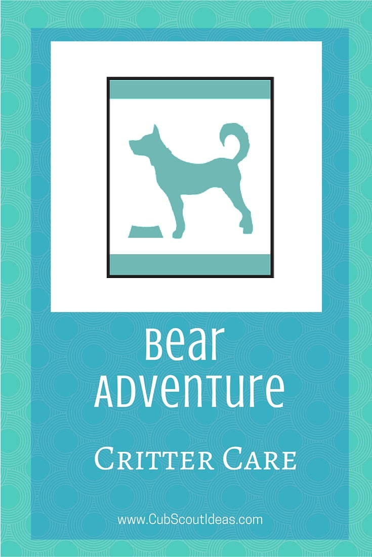 Bear Cub Scout Critter Care